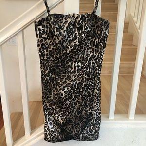 Guess leopard cheetah club dress